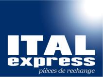 Logo Ital express, cabine de tracteur, spécialiste pièces de rechange, tracteur agricole