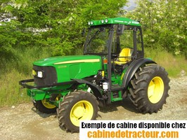 Cabine pour tracteur agricole de marque John Deere